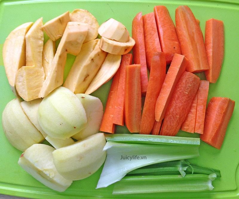 Khoai lang, ớt đỏ, cà rốt