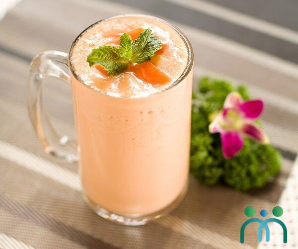 Sinh tố đu đủ sữa chua giúp tăng cường trao đổi chất cho da