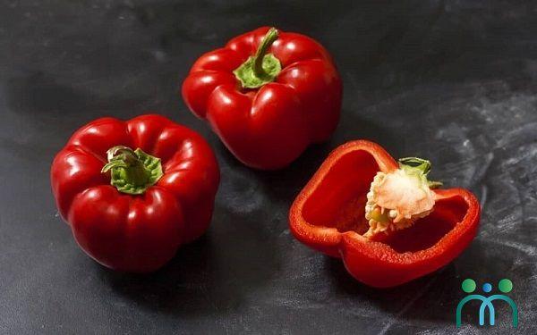 Ớt chuông đỏ giàu Vitamin E giúp ngăn ngừa nếp nhăn