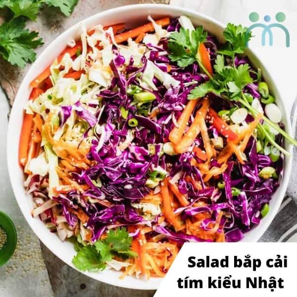 Salad bắp cải tím kiểu Nhật