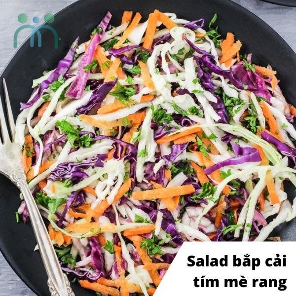 Salad bắp cải tím trộn sốt mè rang