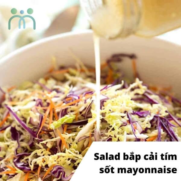 Salad bắp cải tím sốt mayonnaise