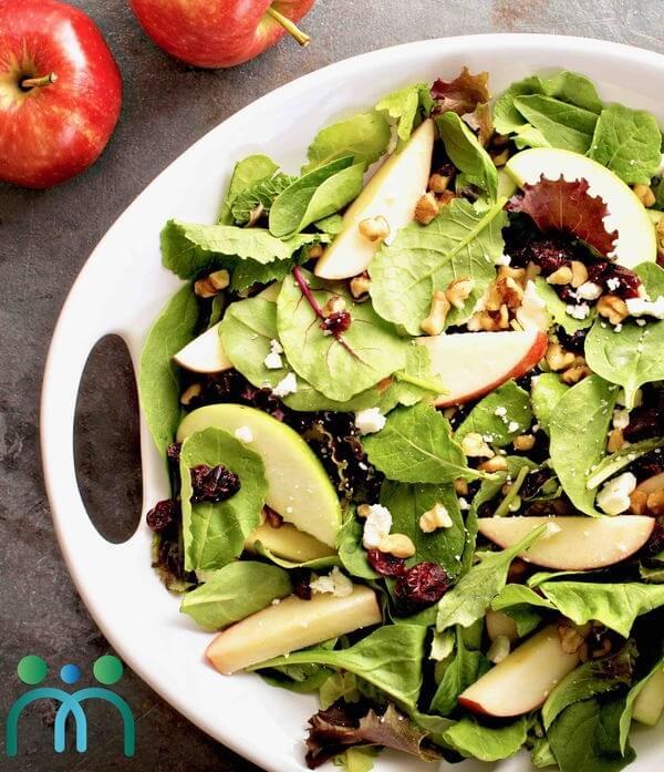 Salad táo lê