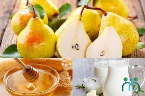 Mặt nạ lê, mật ong và sữa tươi