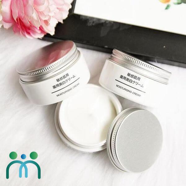 Kem dưỡng ẩm trắng da Nhật Muji Moisturising Cream