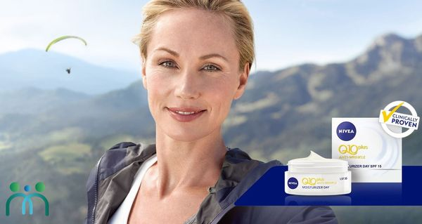 Kem dưỡng Nivea Q10 giúp bảo vệ da khỏi tác động tuổi tác