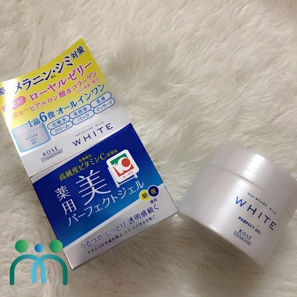 Kem dưỡng trắng da Nhật Kose White Moisture Mild