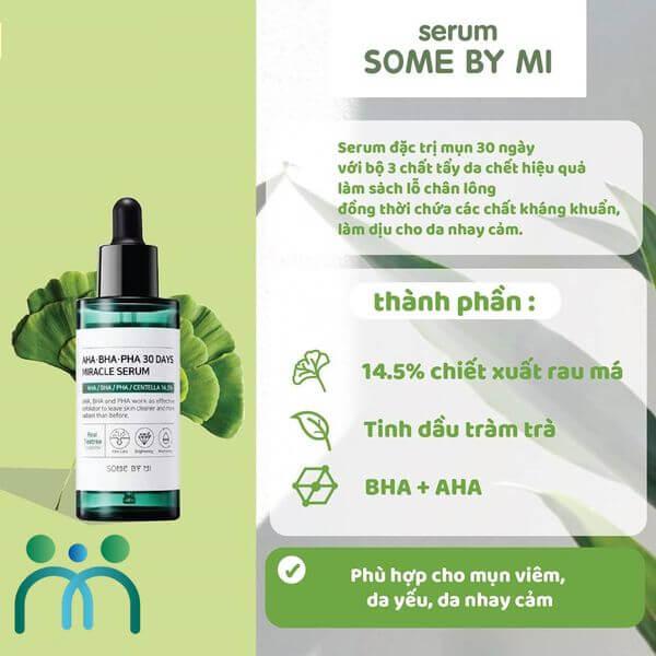 Serum Some By Mi AHA - BHA - PHA 30 Days Miracle được chiết xuất từ thiên nhiên