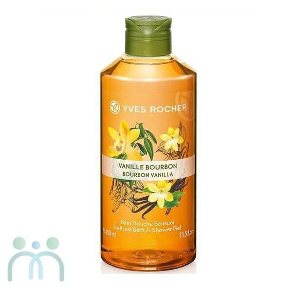 Gel tắm hương vani Yves Rocher Bourbon Vanilla Sensual Bath And Shower