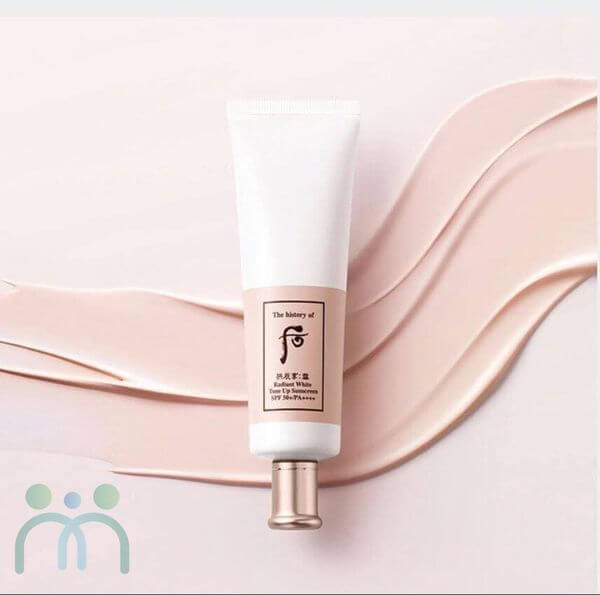 Kem chống nắng Whoo Radiant White Tone Up Sunscreen SPF50