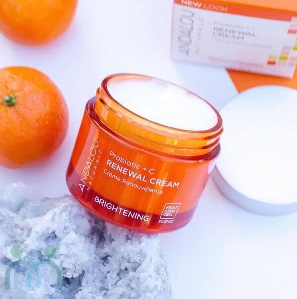 Kem dưỡng trắng da Andalou Renewal Cream Brightening Probiotic + C