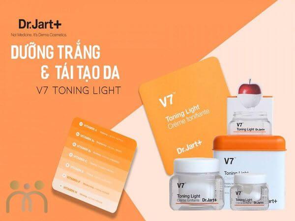 Kem V7 với công dụng dưỡng trắng và tái tạo da