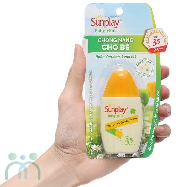 Kem chống nắng bà bầu Nhật Sunplay Baby Mild
