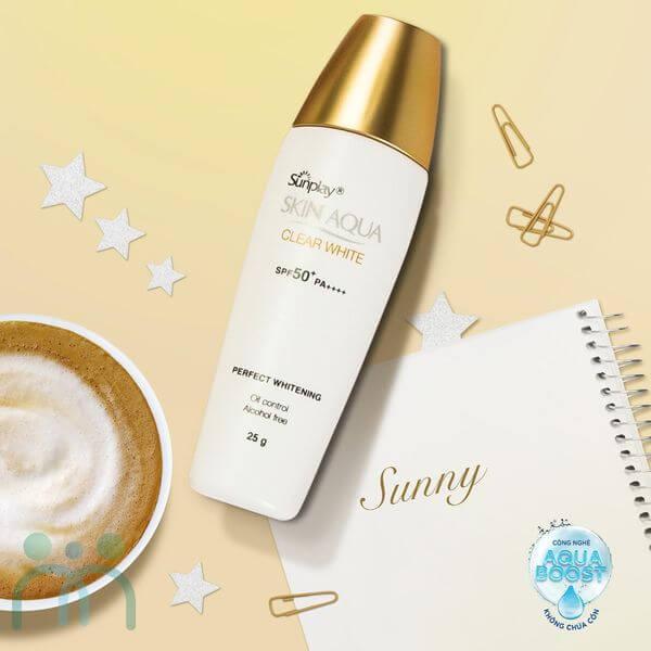 Kem chống nắng Sunplay Skin Aqua Clear White Nhật